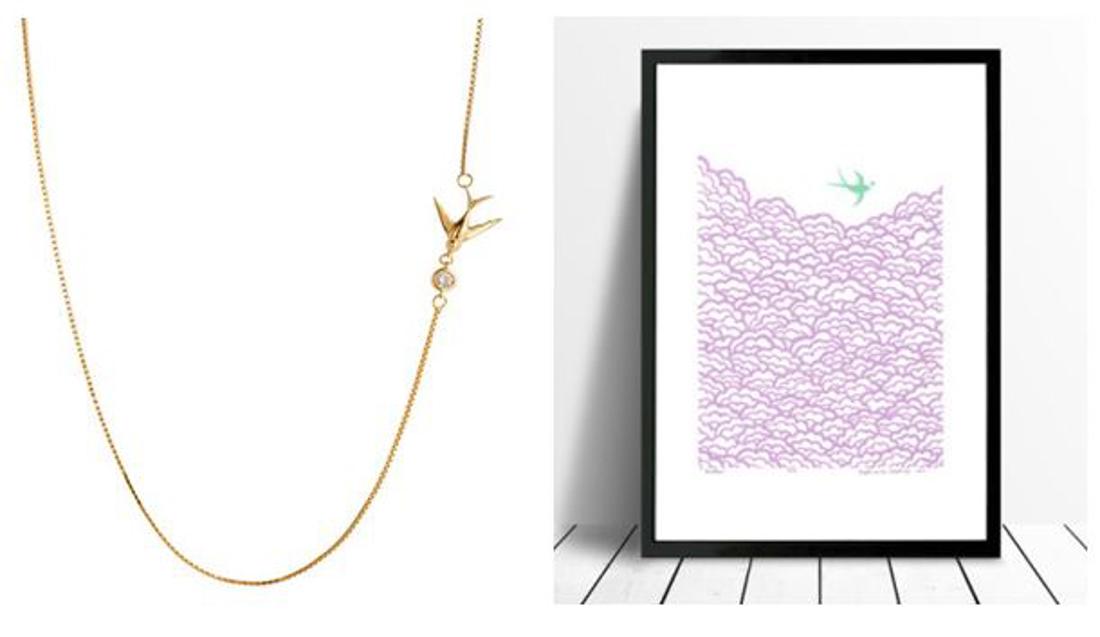 Swallow necklace Lee Renee
