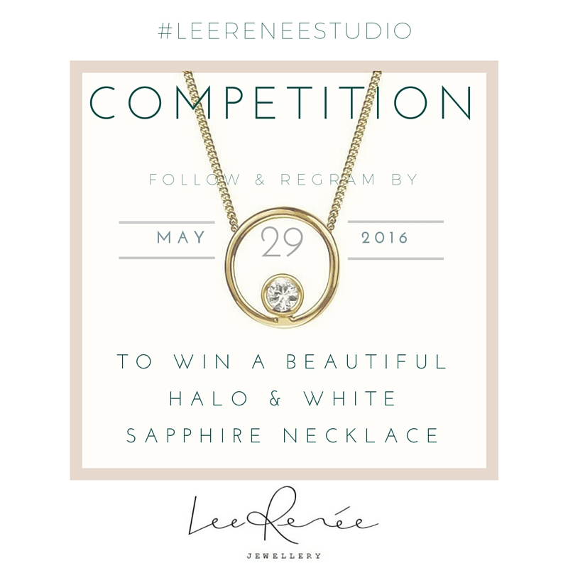 Lee Renee Jewellery Instagram Competition Halo Sapphire