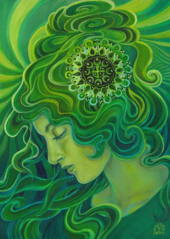 Lee Renee Jewellery Venus in Green - on Etsy