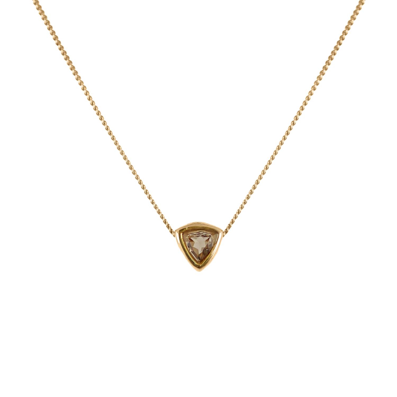 Lee Renee smoky quartz trillion necklace
