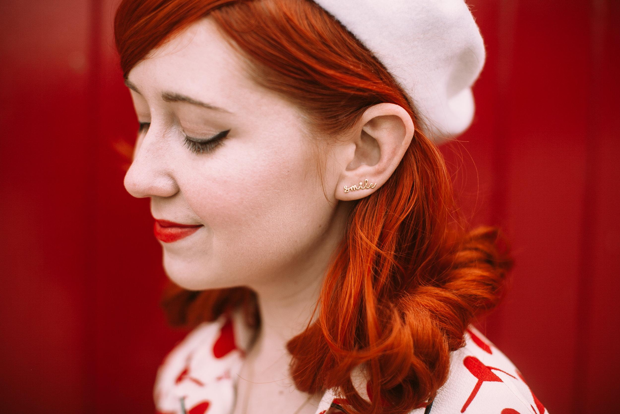Lee Renee Diamond 'Smile' slider earring