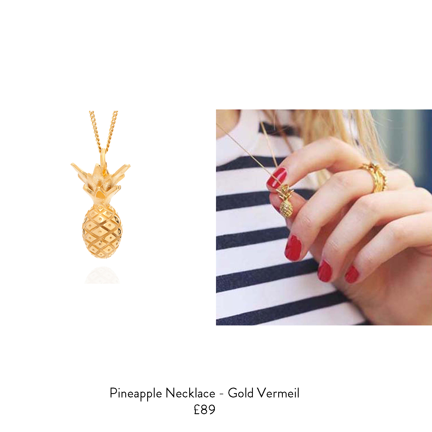 40th birthday girft ideas for her gold pineapple necklace