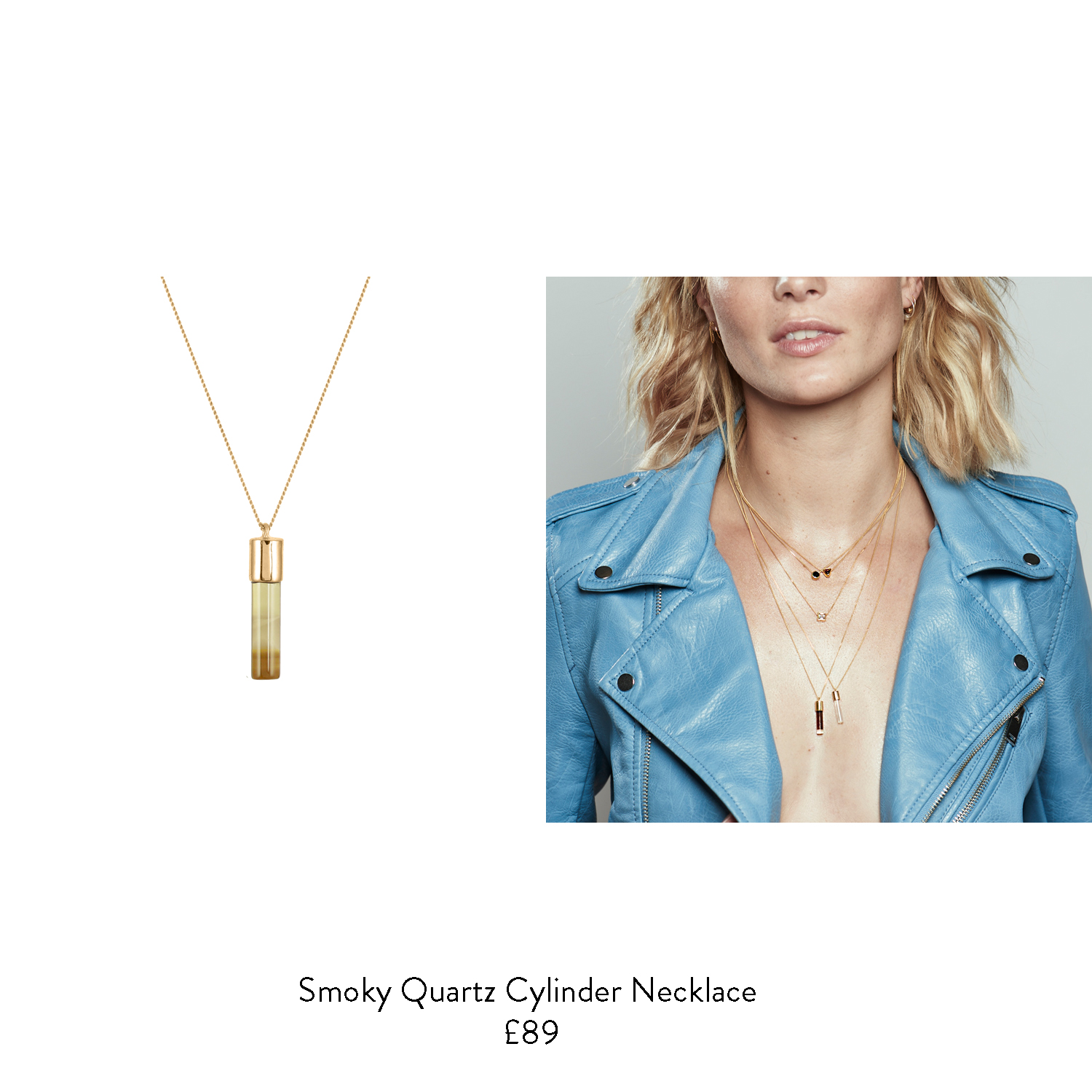 50th birthday gift ideas for her smoky quartz gold necklace