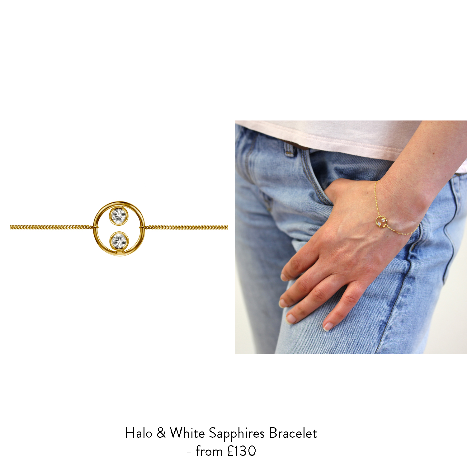 70th birthday gift ideas for her gold halo bracelet