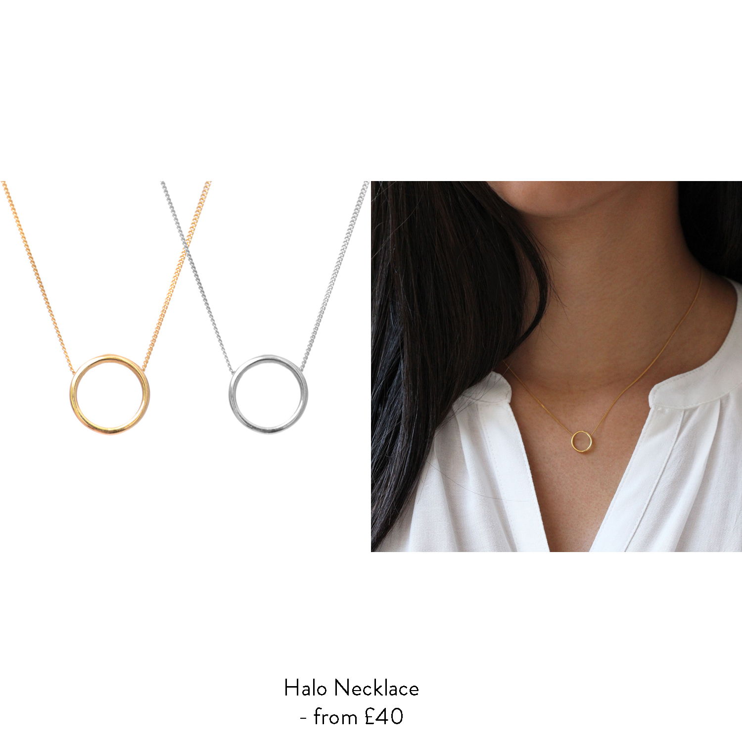 new mum gift ideas for her gold halo necklace
