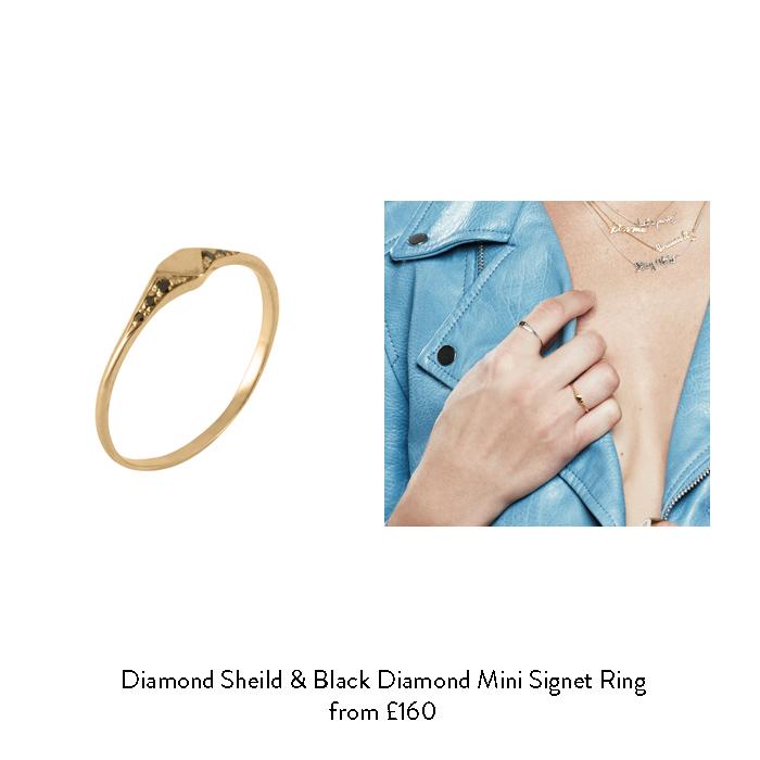april birthstone gift ideas for her black diamond signet ring