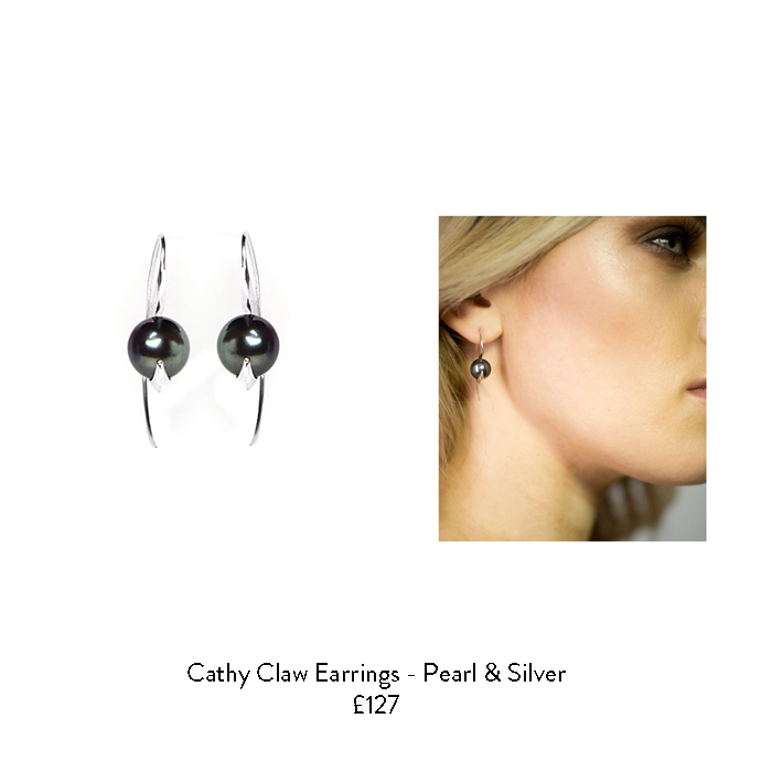 june birthstone gift ideas for her black pearl earrings