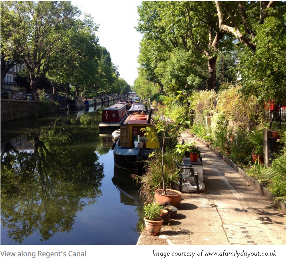 regents canal walk little Venice