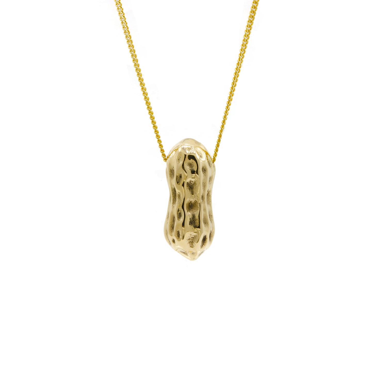Gold Peanut Necklace