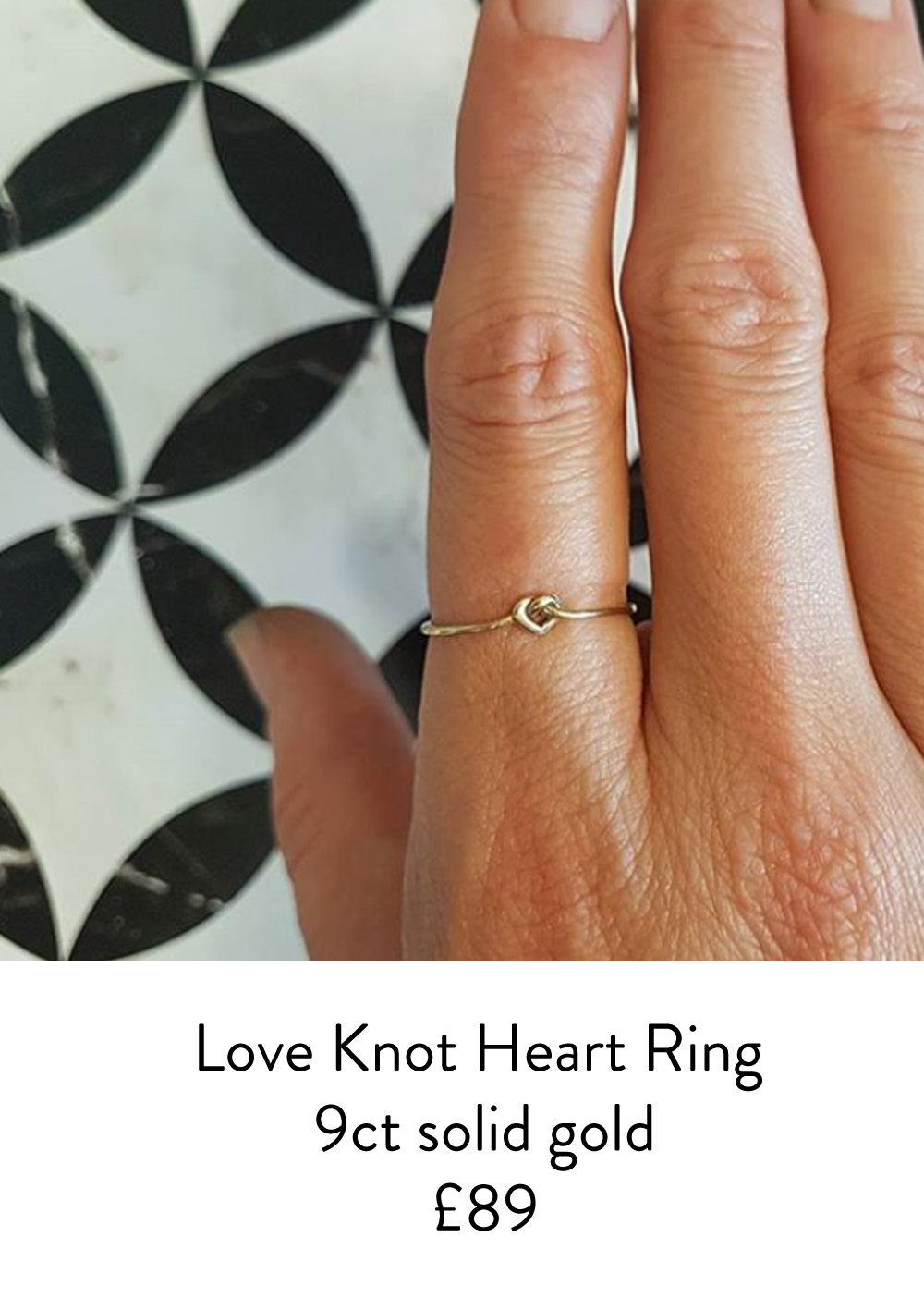 love knot heart ring