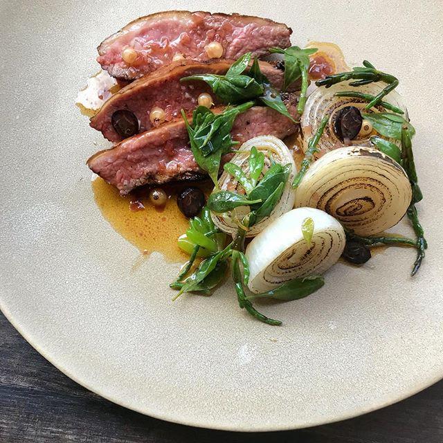 Swaledale Lamb, Margarita Onions, Sea Herbs, Lamb Fat & White Currant Vinaigrette #stleonardsec2