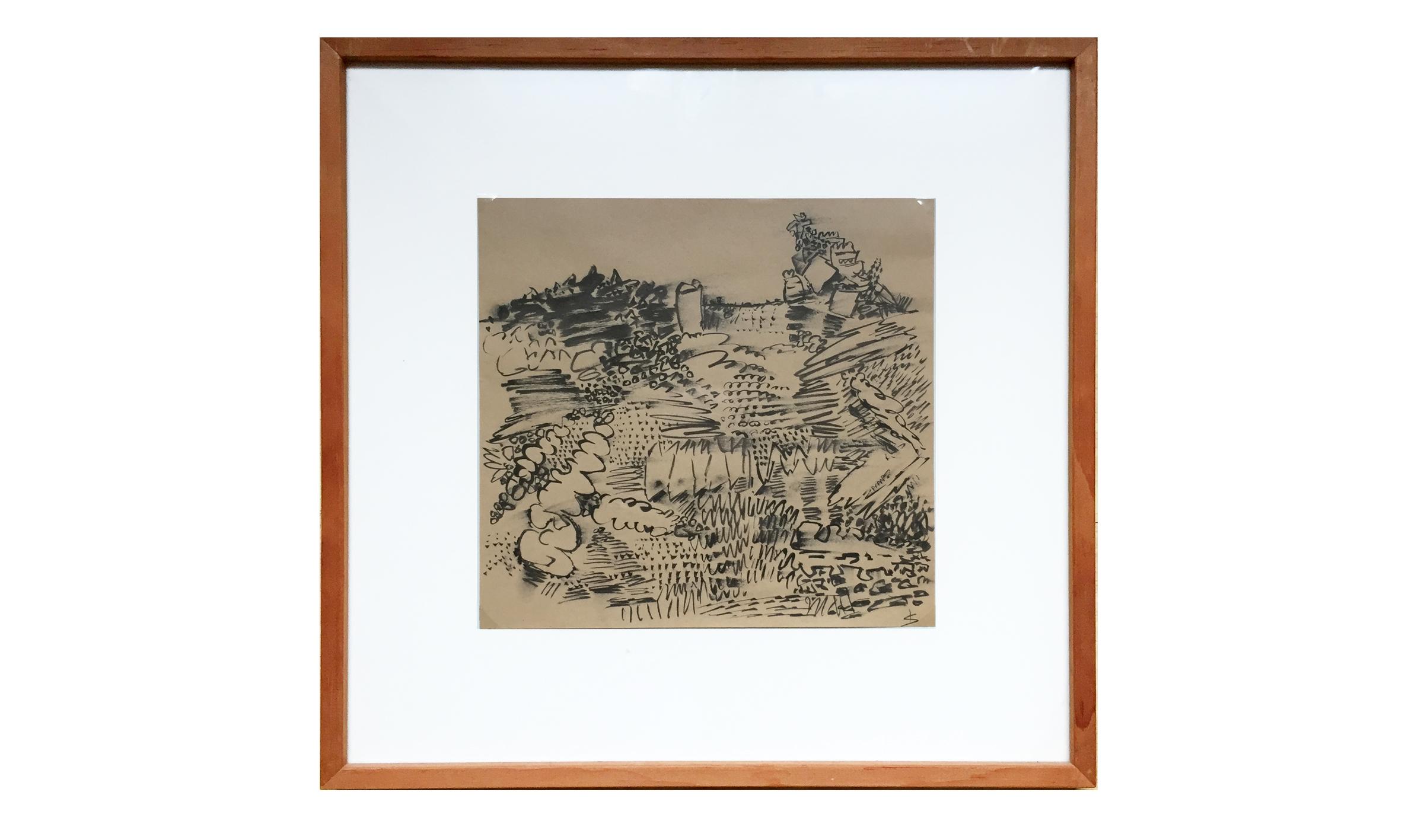Ohne Titel, 1989, 21 x 22 cm, Tusche auf Papier, Gerahmt Holzrahmen, CHF 380.–