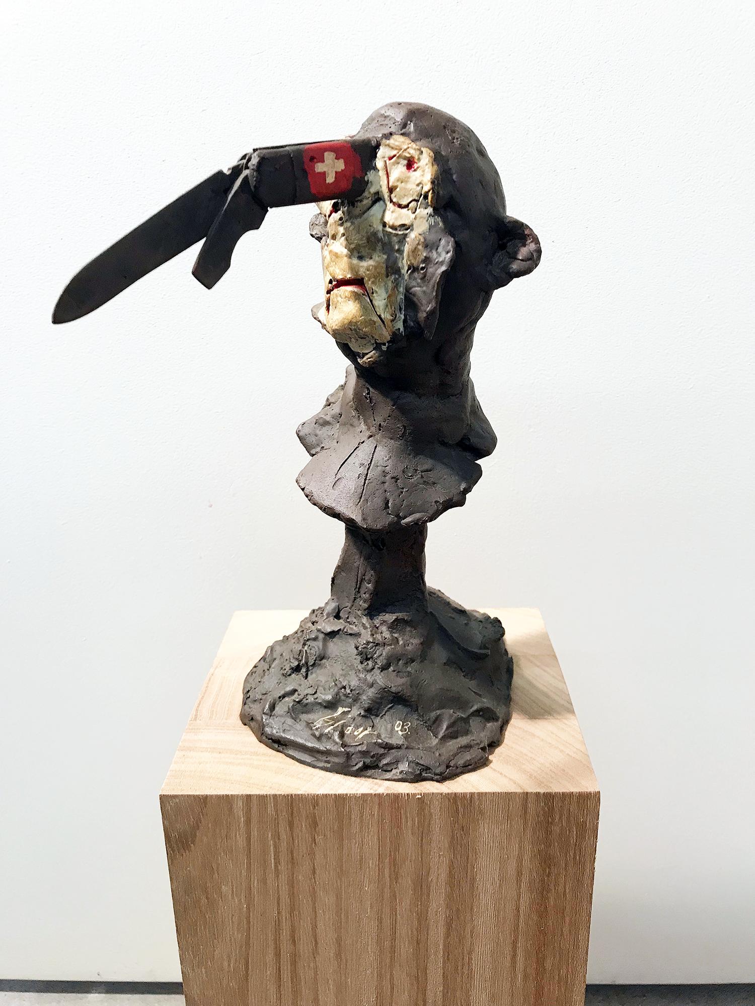 Ohne Namen, 2003, Bronzeguss, Auflage 5 Ex., 29 x 10 x 19 cm