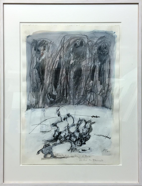 Don Quichot: Das Ende der Ritterschaft, 2006, 50 x 70, Holzrahmen, Rahmenmass 72 x 93 cm