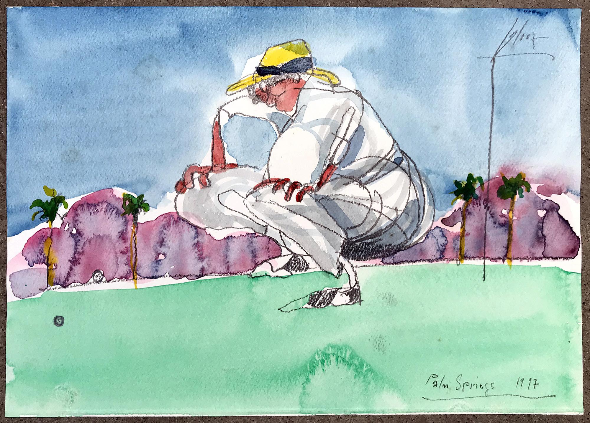 Palm Springs, 1997, Aquarell auf Zeichenpapier, 29 x 21 cm, ohne Rahmen