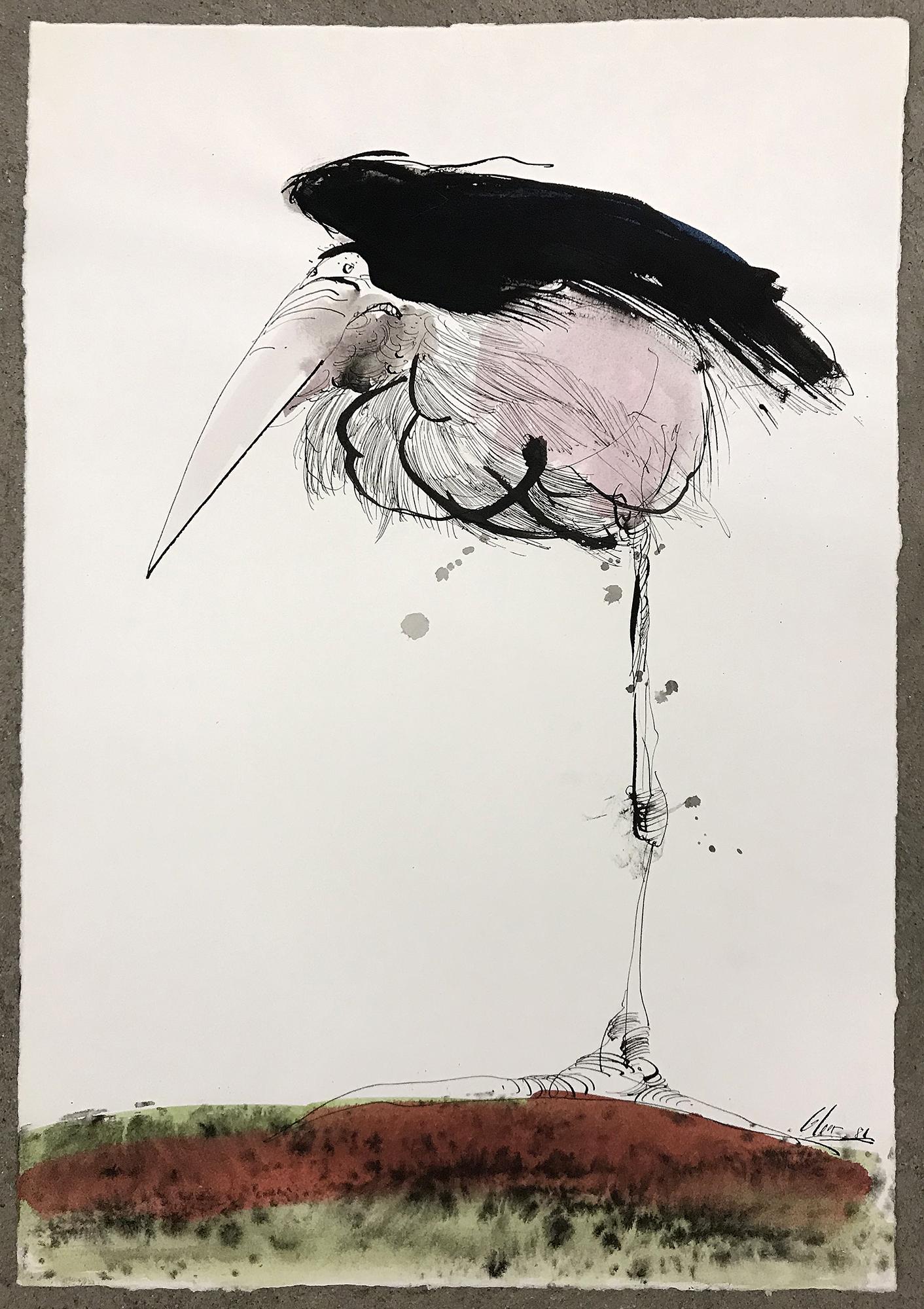 Marabu, 1986, Tusche auf Büttenpapier, 32 x 45 cm, ohne Rahmen