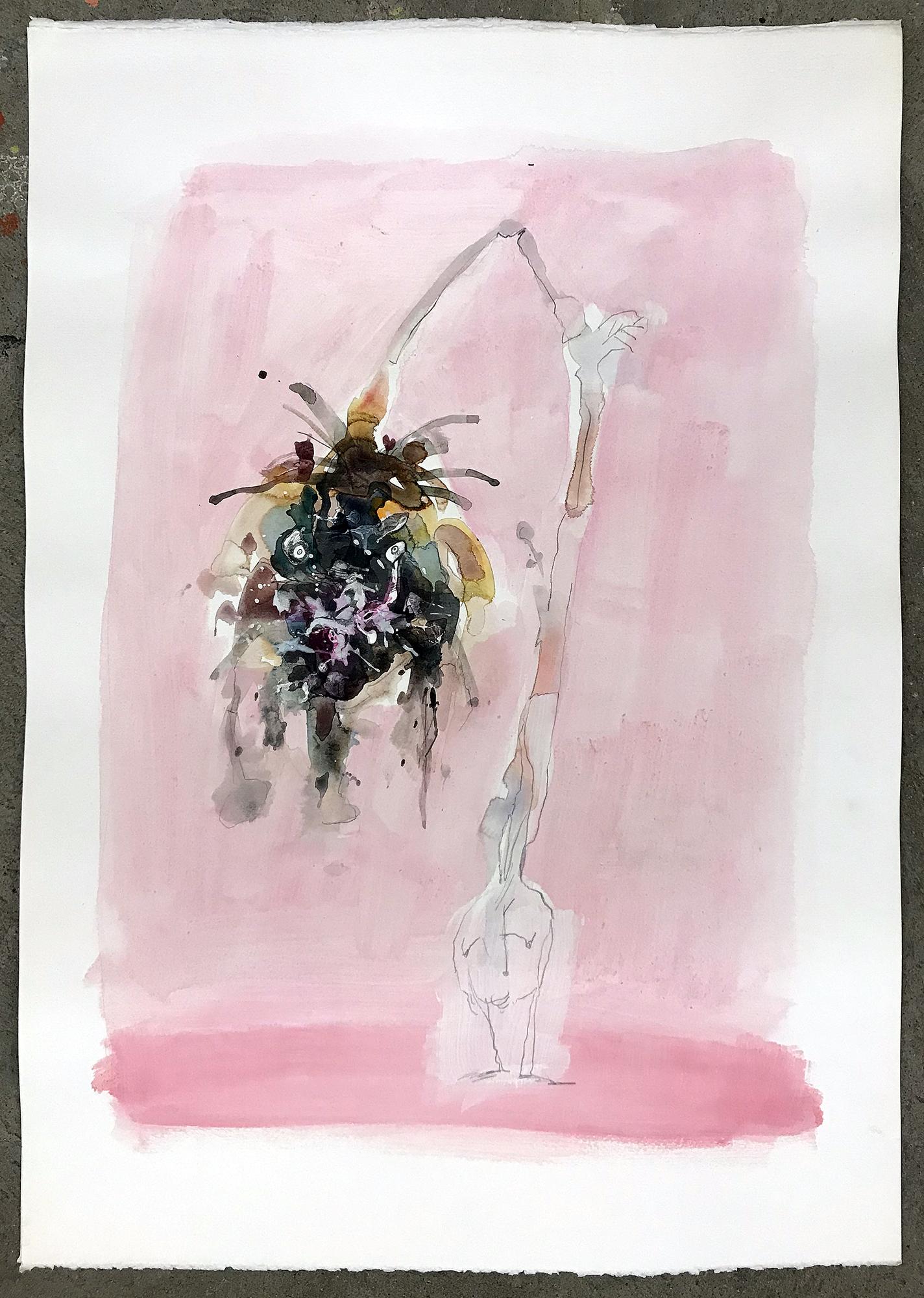 Blumenköpfe, o.D., Mischtechnik auf Büttenpapier, 50 x 70 cm, ohne Rahmen