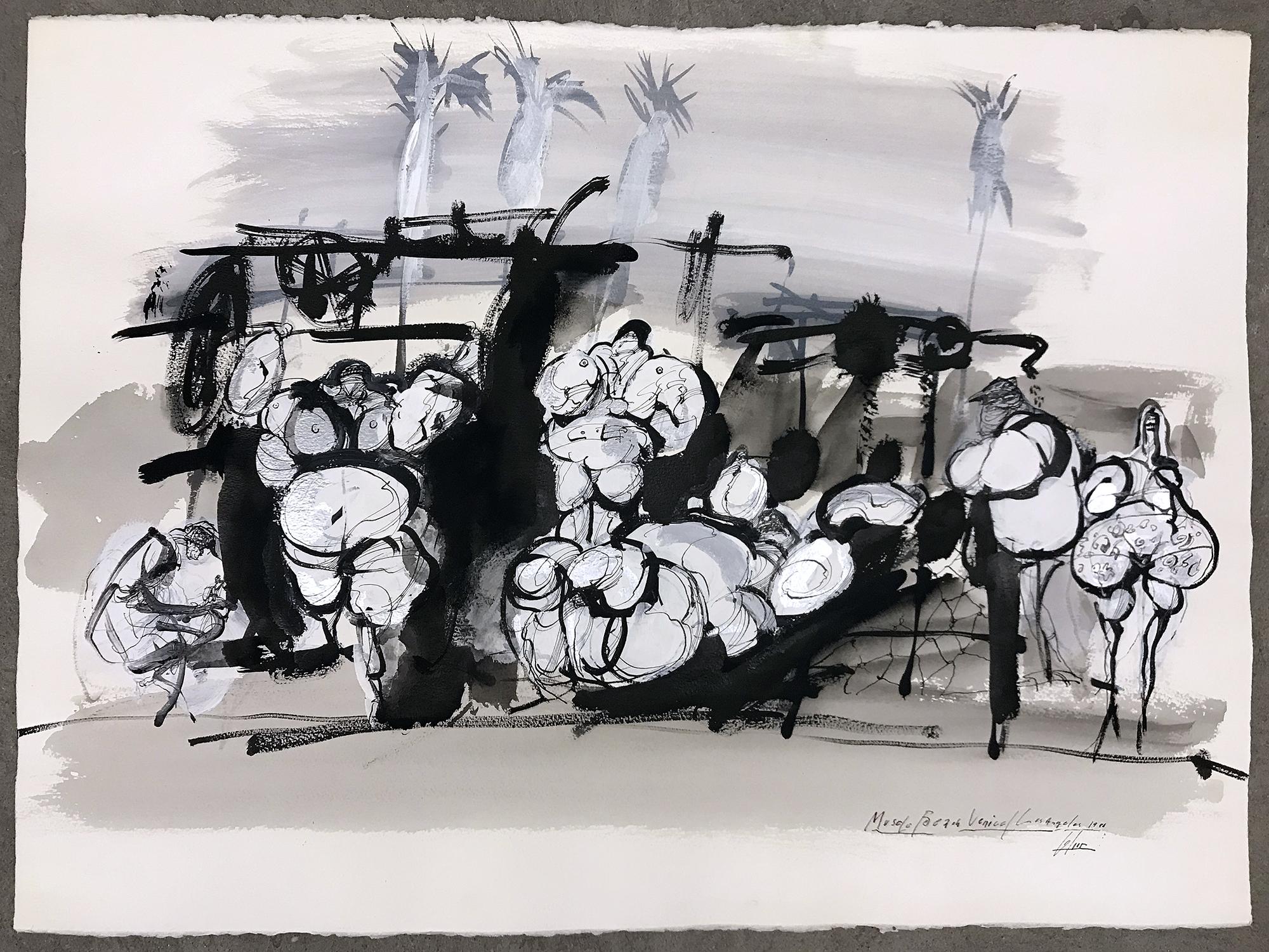 Muschel Beach, 1986, Mischtechnik auf Papier, 77 x 56 cm, ohne Rahmen
