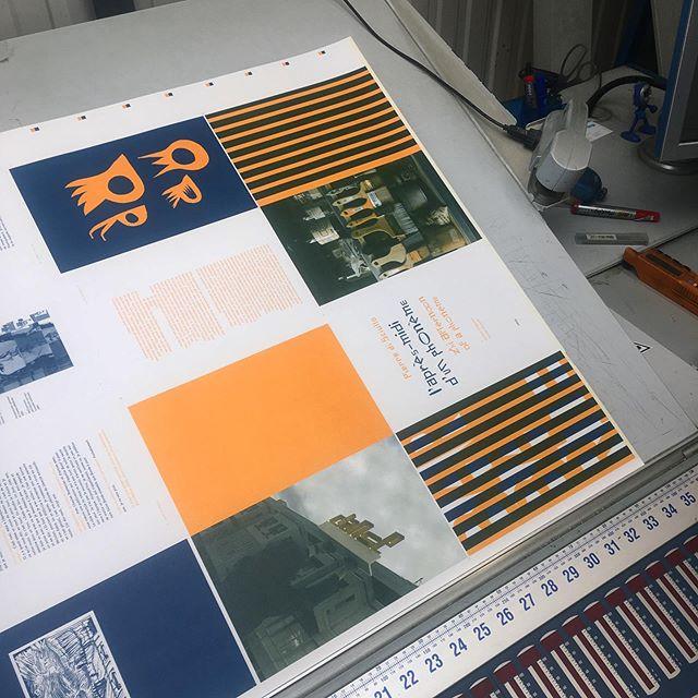 La fête de la bichromie chez #mediagraphic à #rennes ! «Pierre di Sciullo   L'après-midi d'un phonème— The Afternoon of a Phoneme» sous presse... #printing #color #typography #books #hereweare
