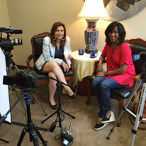 """Talking about my  #yearofjoy , how to live with passion and other fun topics w/ Patricia Gras for her """"Passion Time"""" show. She asked me why it's only for a year!  #inspired"""