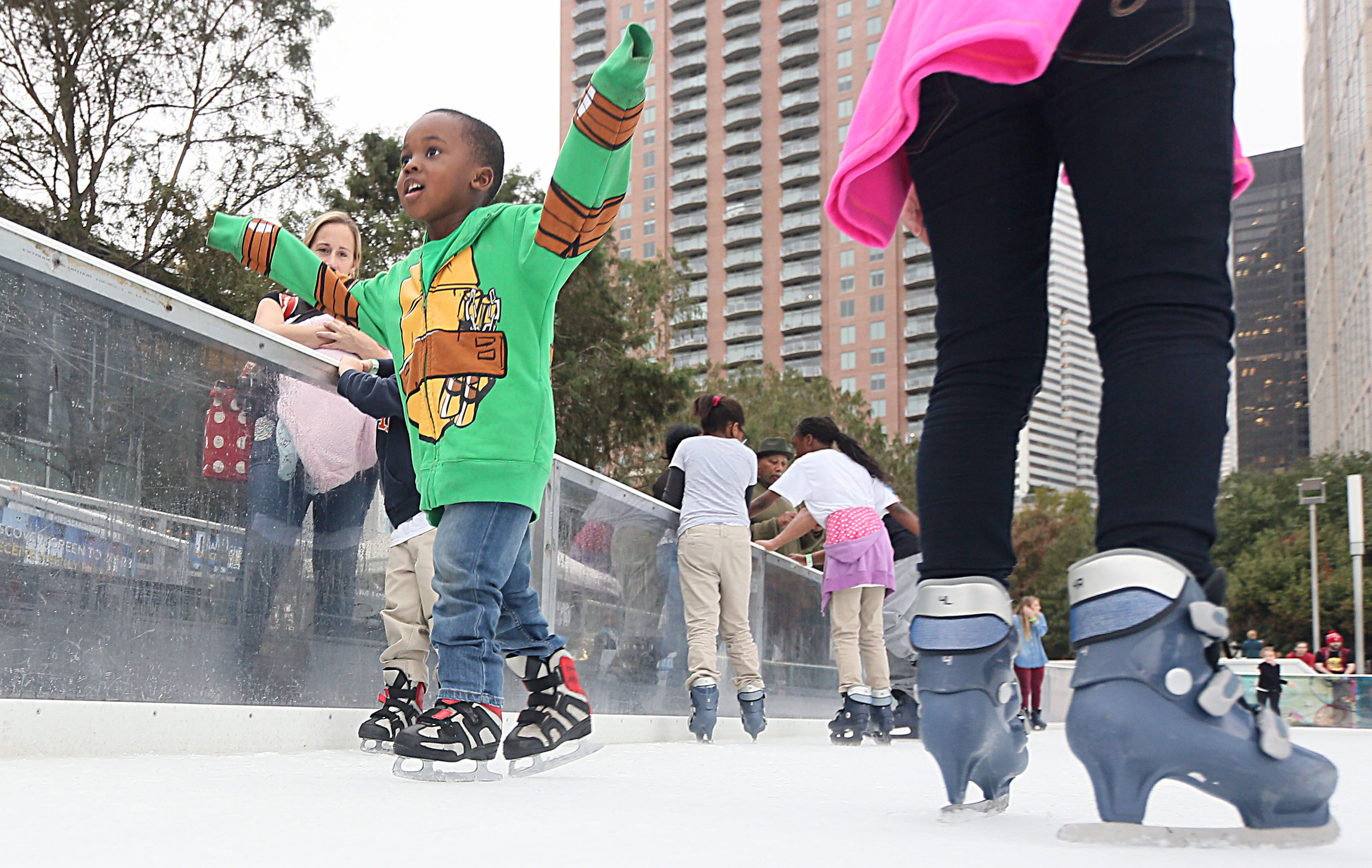 My colleague Houston Chronicle photographer Jake Nielsen died today at age 54. He had a childlike enthusiasm about every assignment, including my  #YearOfJoy  ice skating party. He took this photo. I'll miss him. To help his family with medical costs, there is this Go Fund Me account. Every bit helps. RIP, Jake.  https://www.gofundme.com/give-it-up-for-jake?pc=fb_u_g