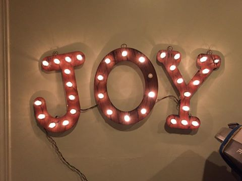 Ended the week with hate emails slamming me for my article I wrote about a bat in my house. One called me a bat hater. Another said I didn't deserve to own my own home. Whatever! I choose joy. Have a great weekend everyone!!  (Thank you  Elizabeth Conley  for my name in lights.  #yearofjoy )