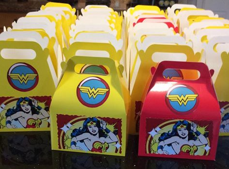 Ending the night stuffing Wonder Woman boxes with goodies. So excited about the  #YearOfJoy  Wonder Woman bowling party for 30 girls tomorrow. (Thank you to  Bowlmor Lanes ,  Yellowcab  and the many individuals who have donated financially or in kind.)  Also, tomorrow evening I'll receive the Houston Humanitarian Award, which is given to 10 people each year who are helping to spread kindness throughout the city. Likely one of the best awards I will have ever received.  #yearofjoy