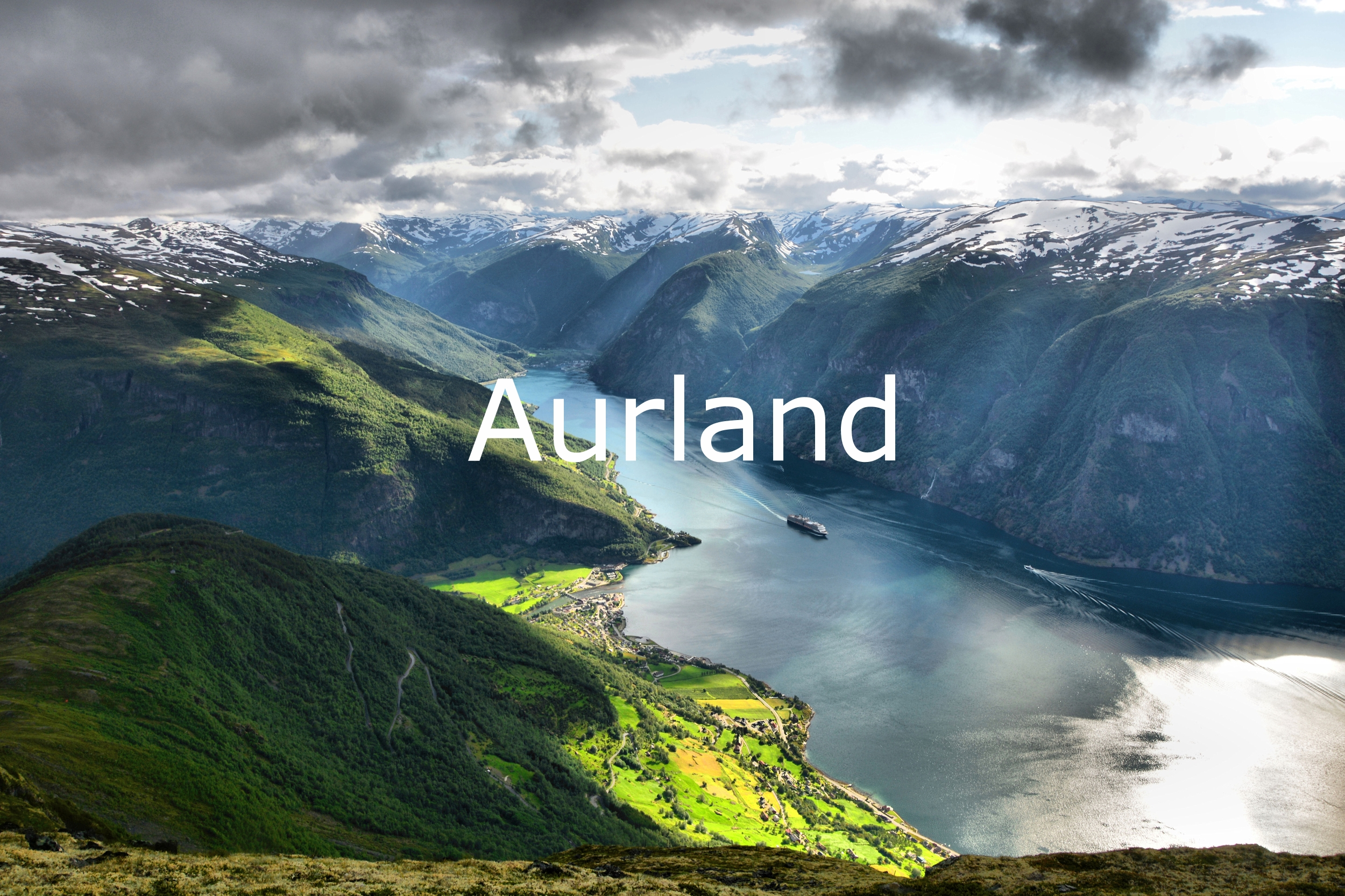 Photographs of Aurland, Flåm, Flam, Flaam