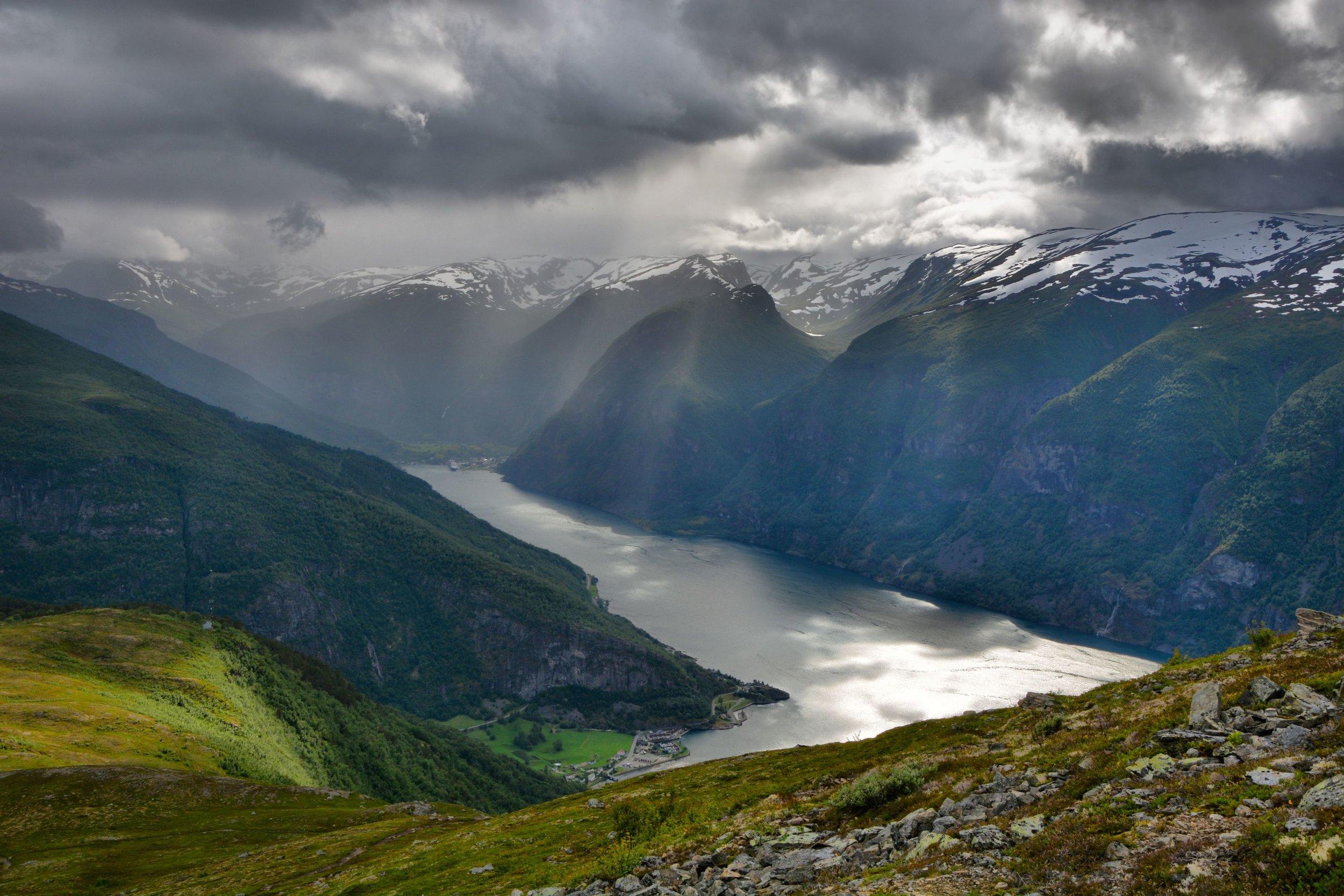 Aurlandsfjord Aurland Flåm