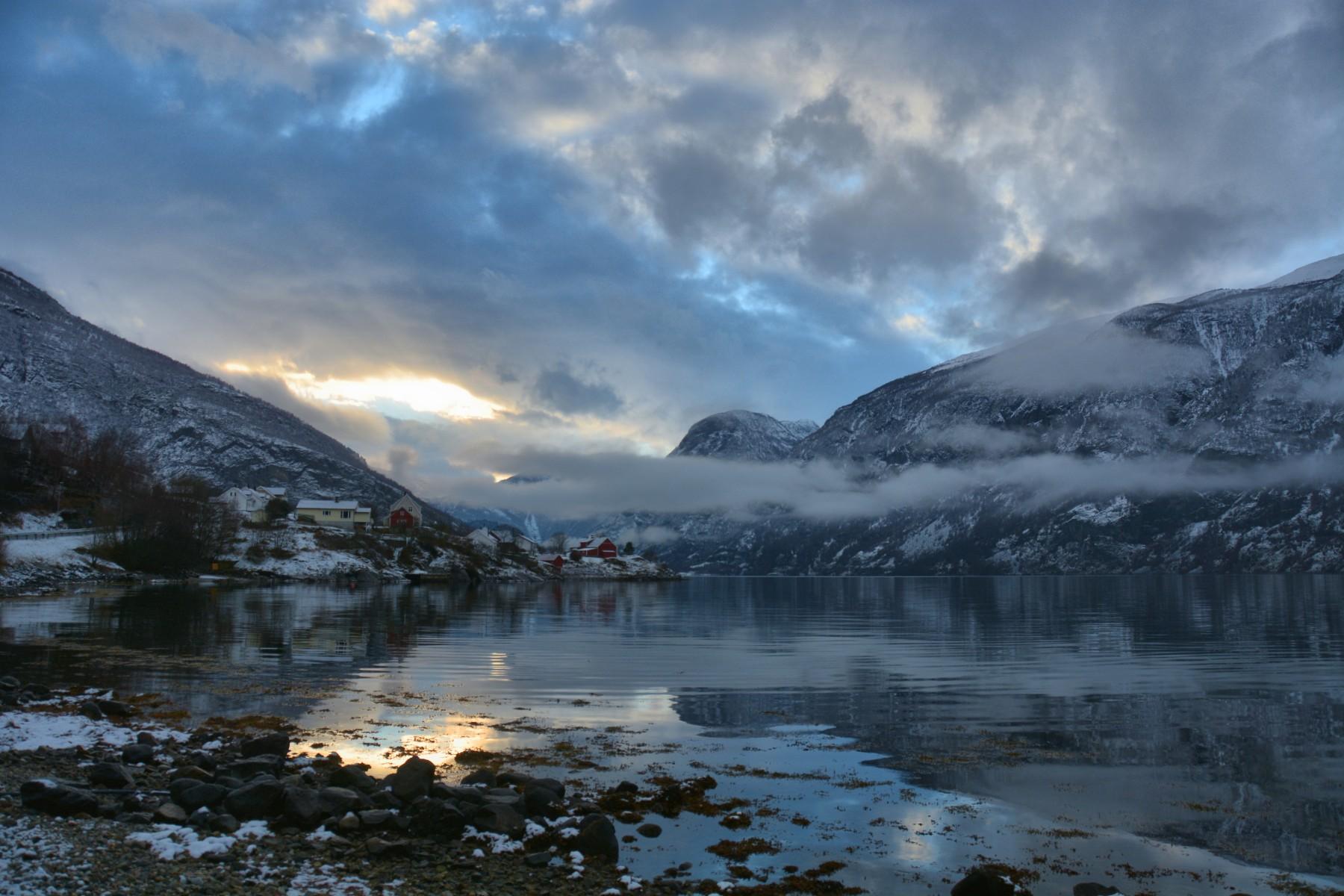 Beautiful November Aurlandsfjord