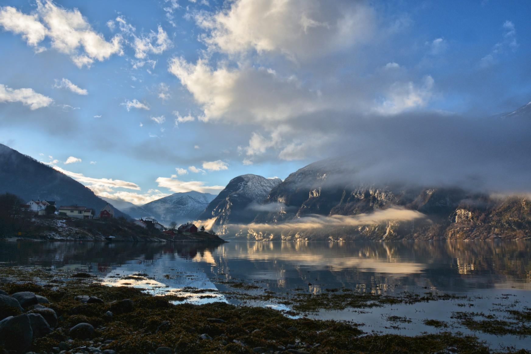 Sunset on Aurlandsfjord