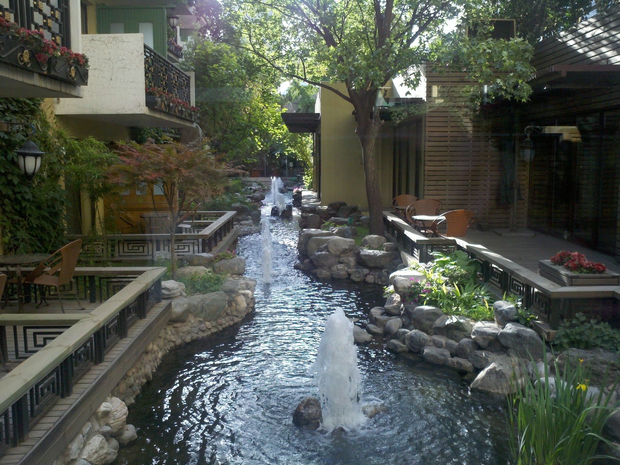 Hotel courtyard in Beijing