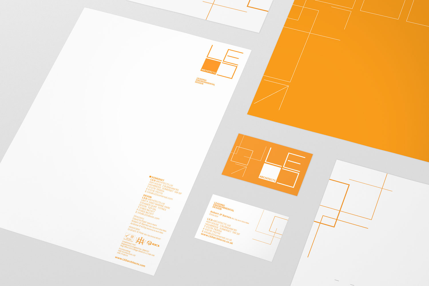 logo and brand identity for local architectural firm LED