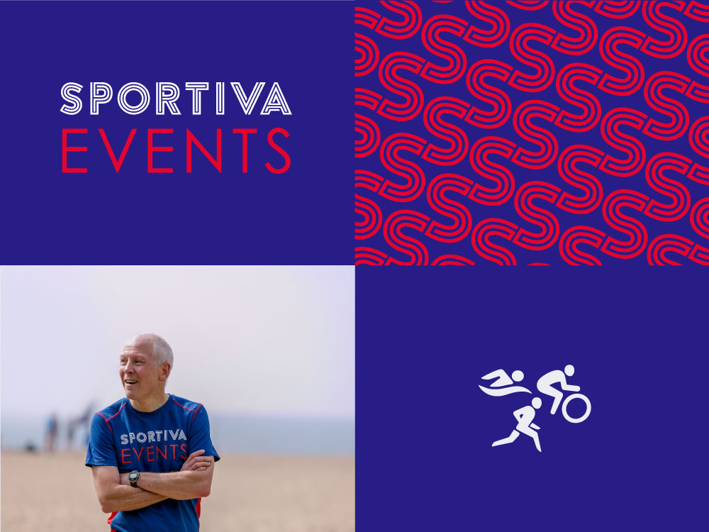 Sportiva logo and brand development for sports event company in the south hams