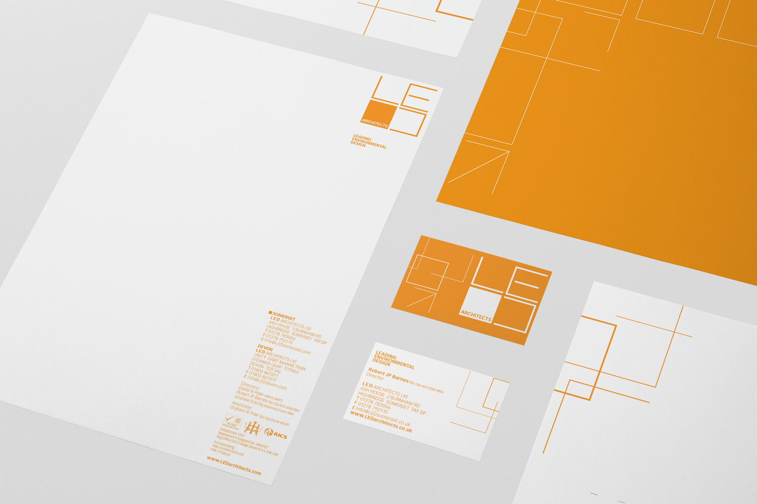 <strong>Architects brand identity</strong><p>Web Design / Branding / Leaflets / POS</p>
