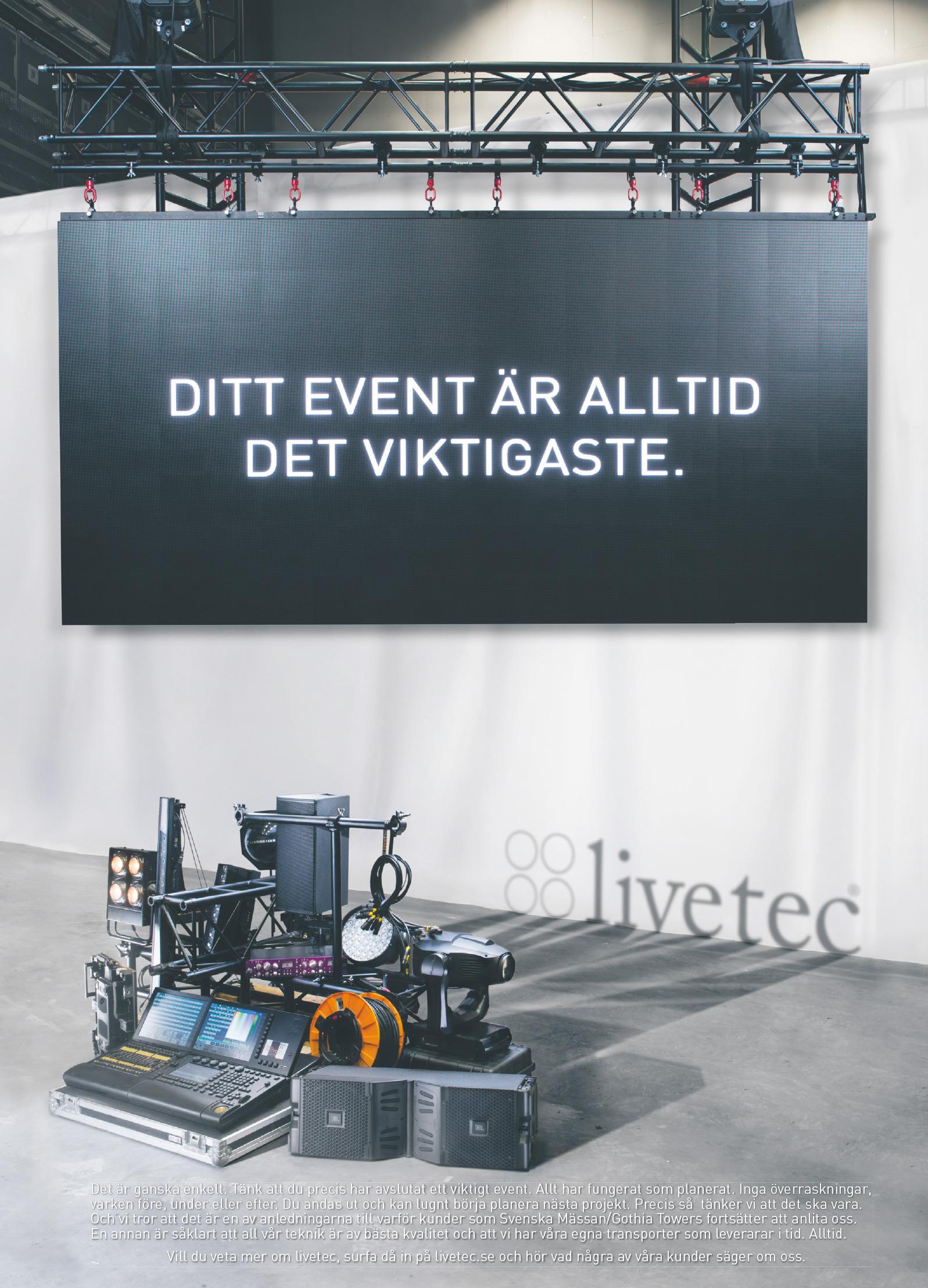Kund: Livetec. Annons i Dagens Industri.