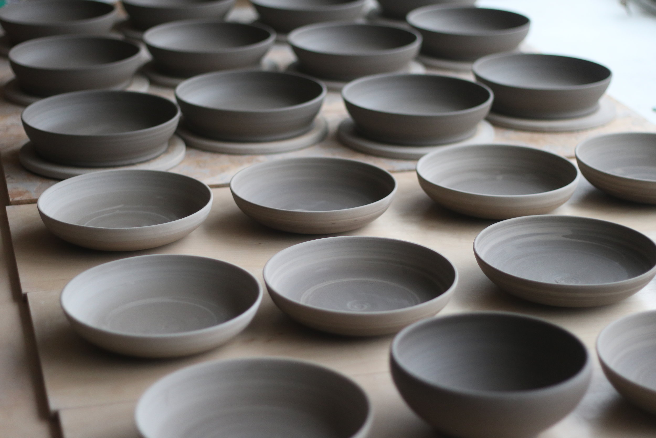 What is your favourite piece to throw? - Bowls. They're a satisfying shape to work on and relatively quick to throw.