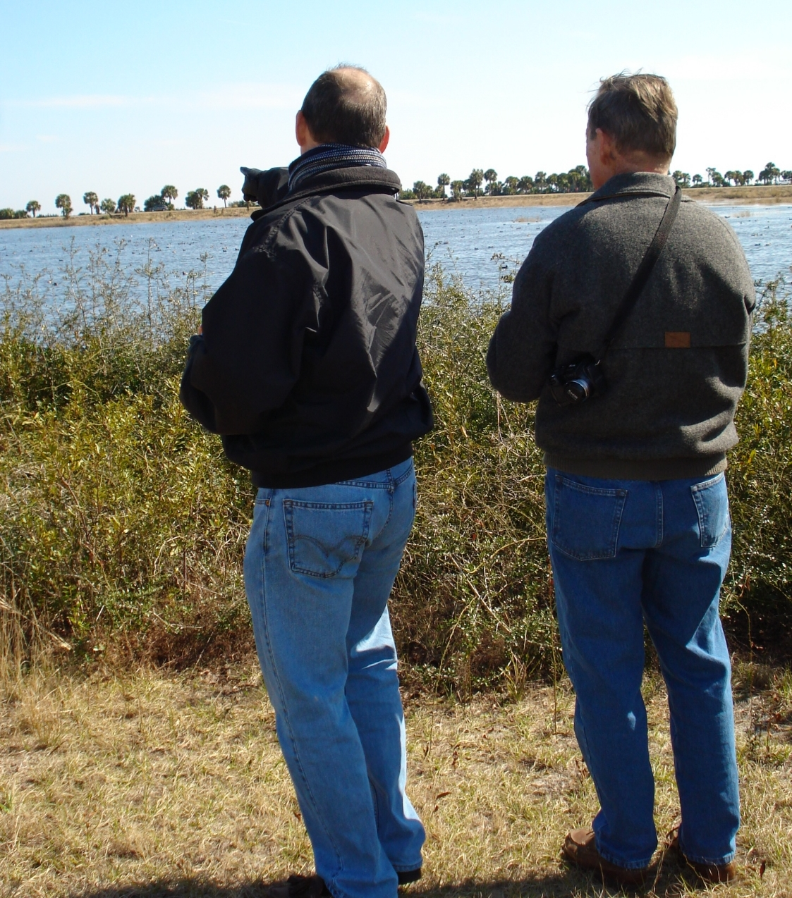 Father and son enjoying a moment at St Marks National Wildlife Refuge