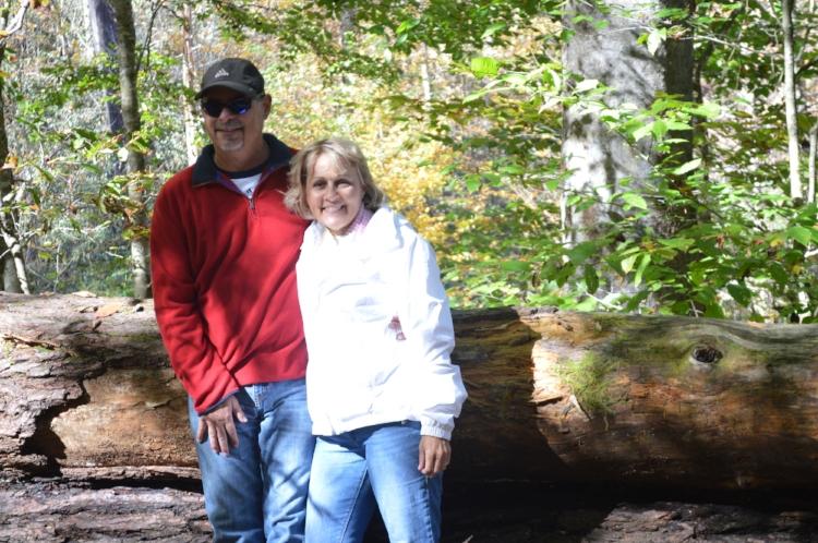 Chris and I in North Carolina on vacation