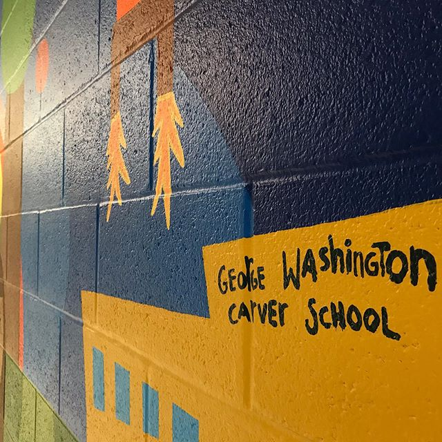 George Washington Carver Dual Language School #bilingual #youthmural #thirdgradeclass #carverduallanguageelementary
