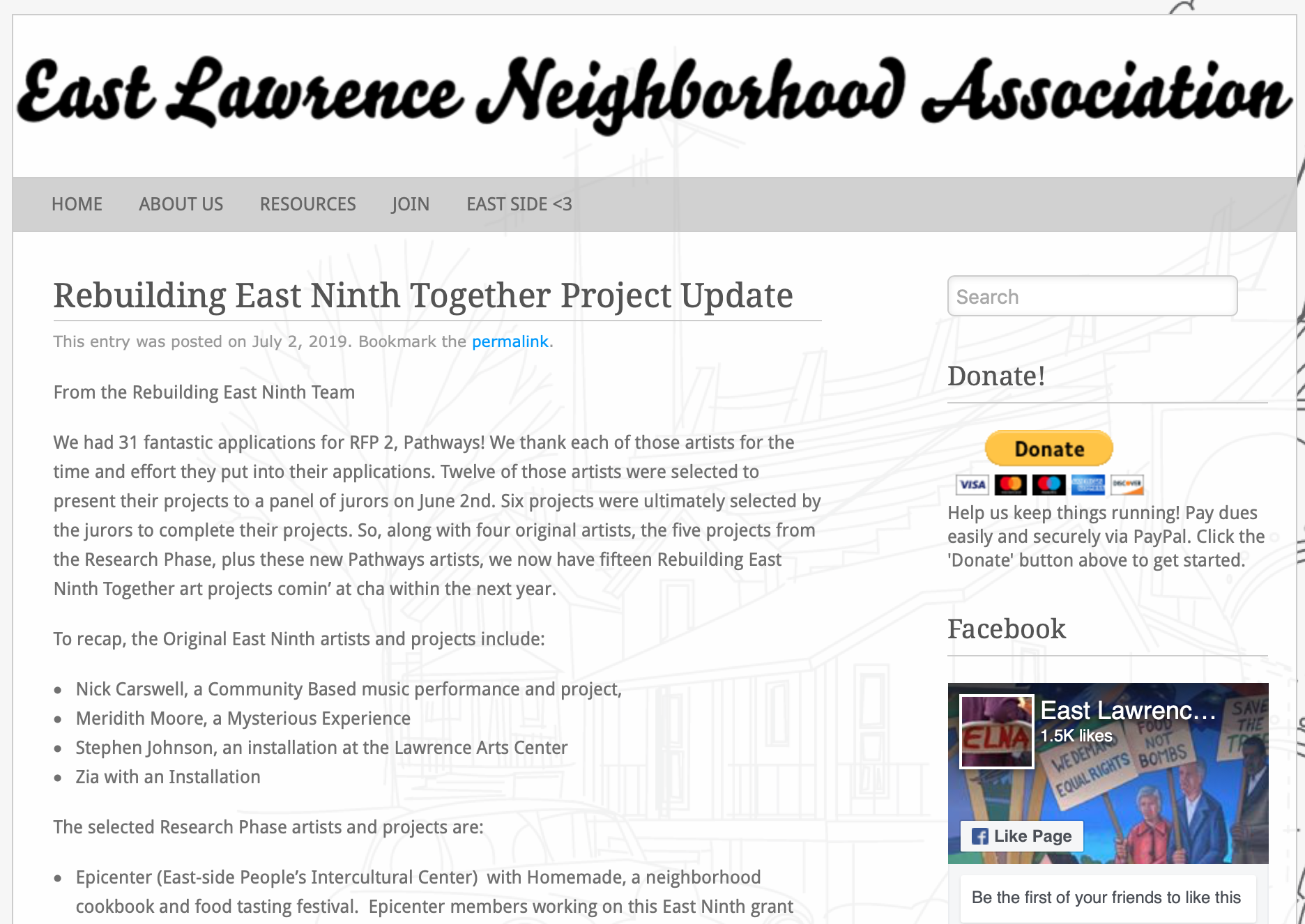 east Lawrence neighborhood association