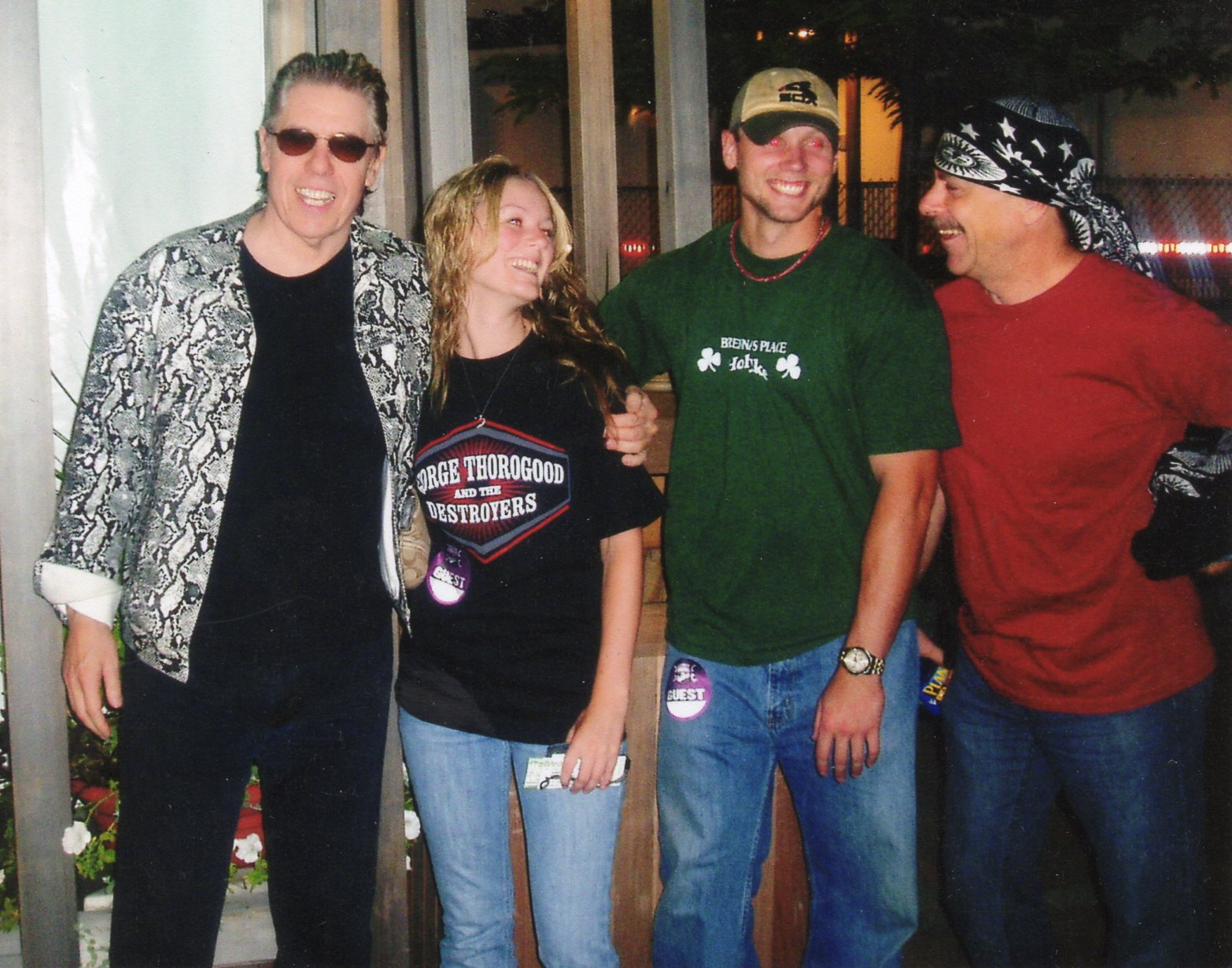 George Thorogood & Jeff Simon with Alyssa Cocorochio Dombrowski & Mike Dombrowski