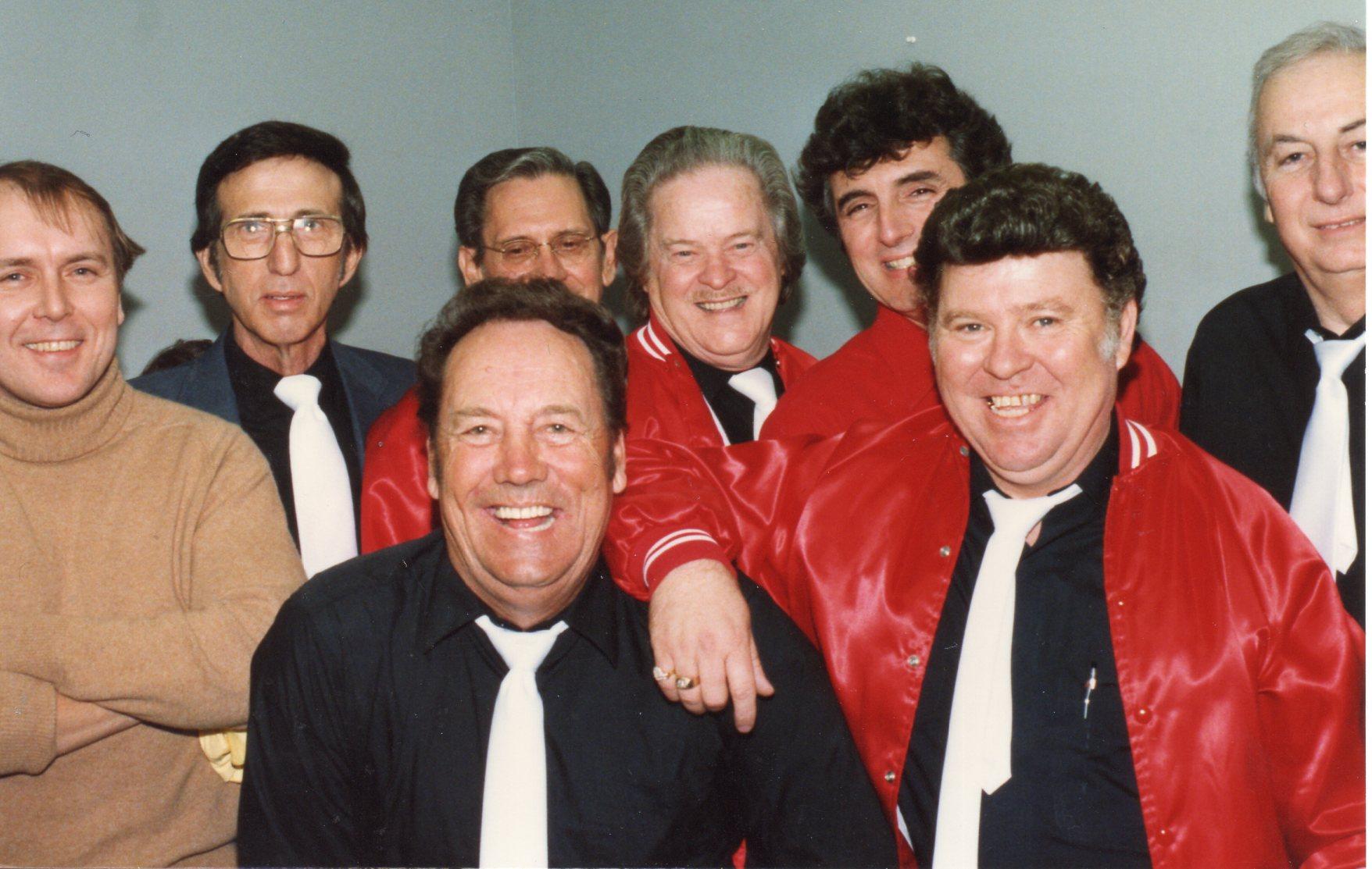 Paul Burlison, J.L. Smoothy Smith, D.J. Fontana,  Stan Kessler, Marcus Van Story & Sonny Burgess With John Tate & Vic Layne of Boston Rockabilly Music Conspiracy