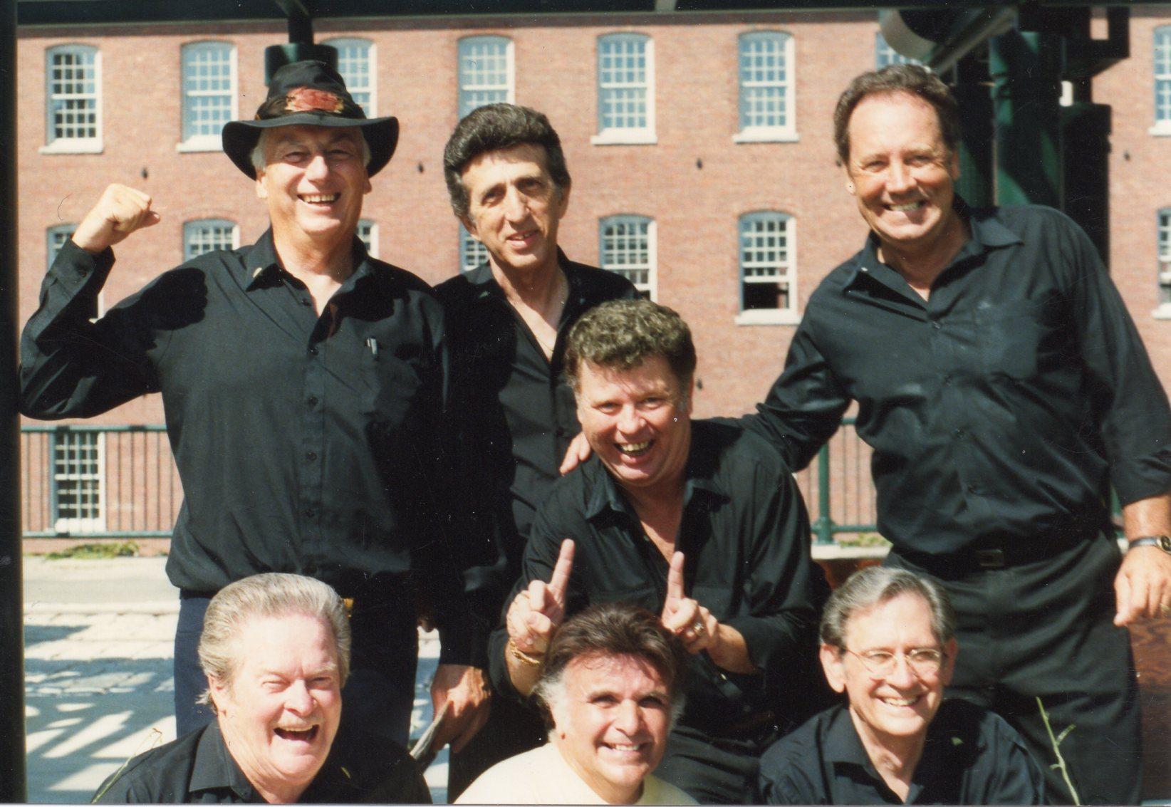Marcus Van Story, Sonny Burgess, D.J. Fontana, J.L. Smoochy Smith, Paul Burlison & Stan Kesler (Sun Rhythm Section)