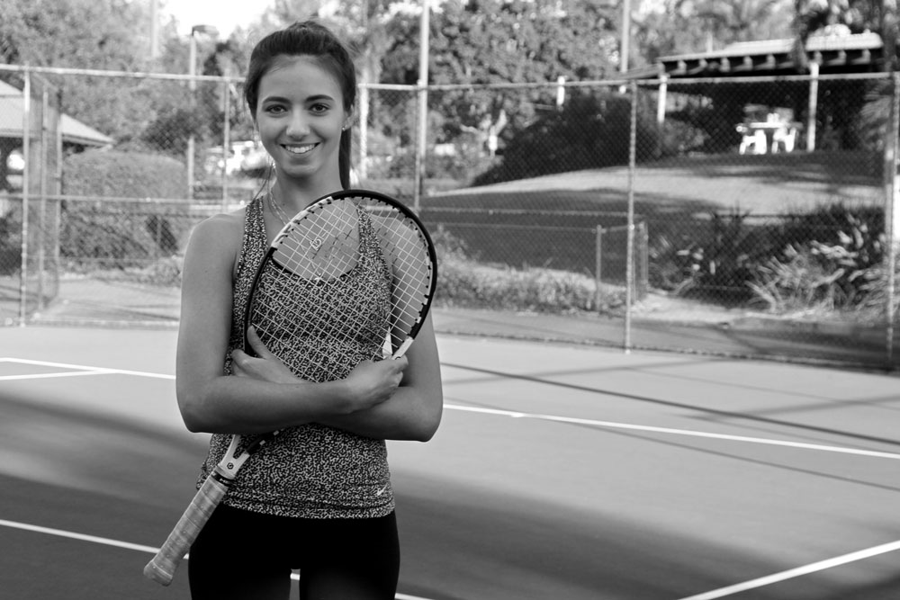 Emili Dzakula    About :I started playing tennis at Coops since I was 6years old and have now been here for 13 years. I started off in red ball then evolved all the way to the elite squad in which I continue to play in now. I have also been coaching red ball, orange ball and green ball as well as squads and adult classes for the past three years.  I have played many AMT tournaments as well as making the Queensland teams event for 6 years in a row   Available for :All group lessons and hitting sessions   'It never gets easier you just get better'