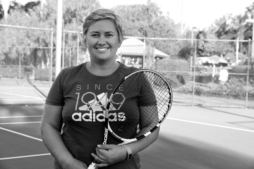 Danel Schoeman    About :My passion for tennis began when I was about 6 or 7 but apart from hitting against the wall there were not many opportunities to play. I joined a local club when I was about 13 but only started receiving coaching and play seriously at about 16 years of age. I played competitive leagues/fixtures at the highest level in Pretoria. Clinton, my husband, and I were mixed doubles champs at our club several times in South Africa. We also won the Eastwood Thornleigh District Tennis Mixed Doubles held at Pennant Hills in Sydney in 2013. My ladies partner and I also won the Women's Doubles at the same event in 2013.  I love coaching young kids and helping them with proper stroke technique, while teaching them tennis etiquette and sportsmanship.   Qualifications : Level 1 ATPCA Coach   'I can do anything through Christ who strengthens me' - Phillipians 4:13