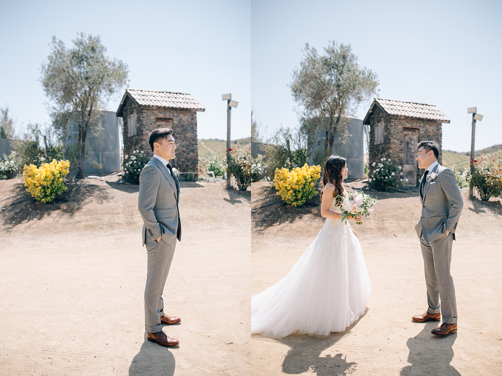 Saddle rock Ranch and Vineyard in Malibu Wedding Photo