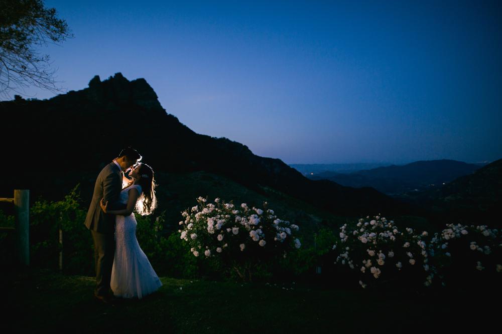 Saddlerock Ranch and Vineyard in Malibu Wedding Photo