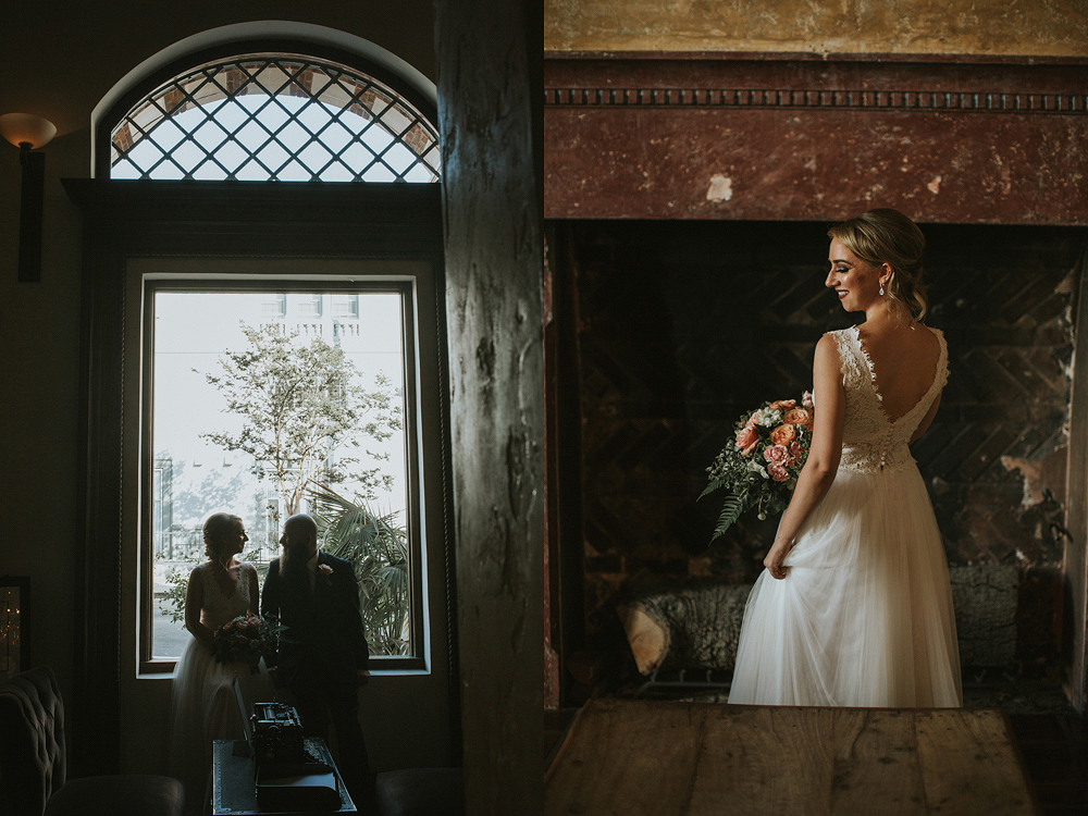 The Daily Dose cafe in Downtown Los Angeles Wedding Photo