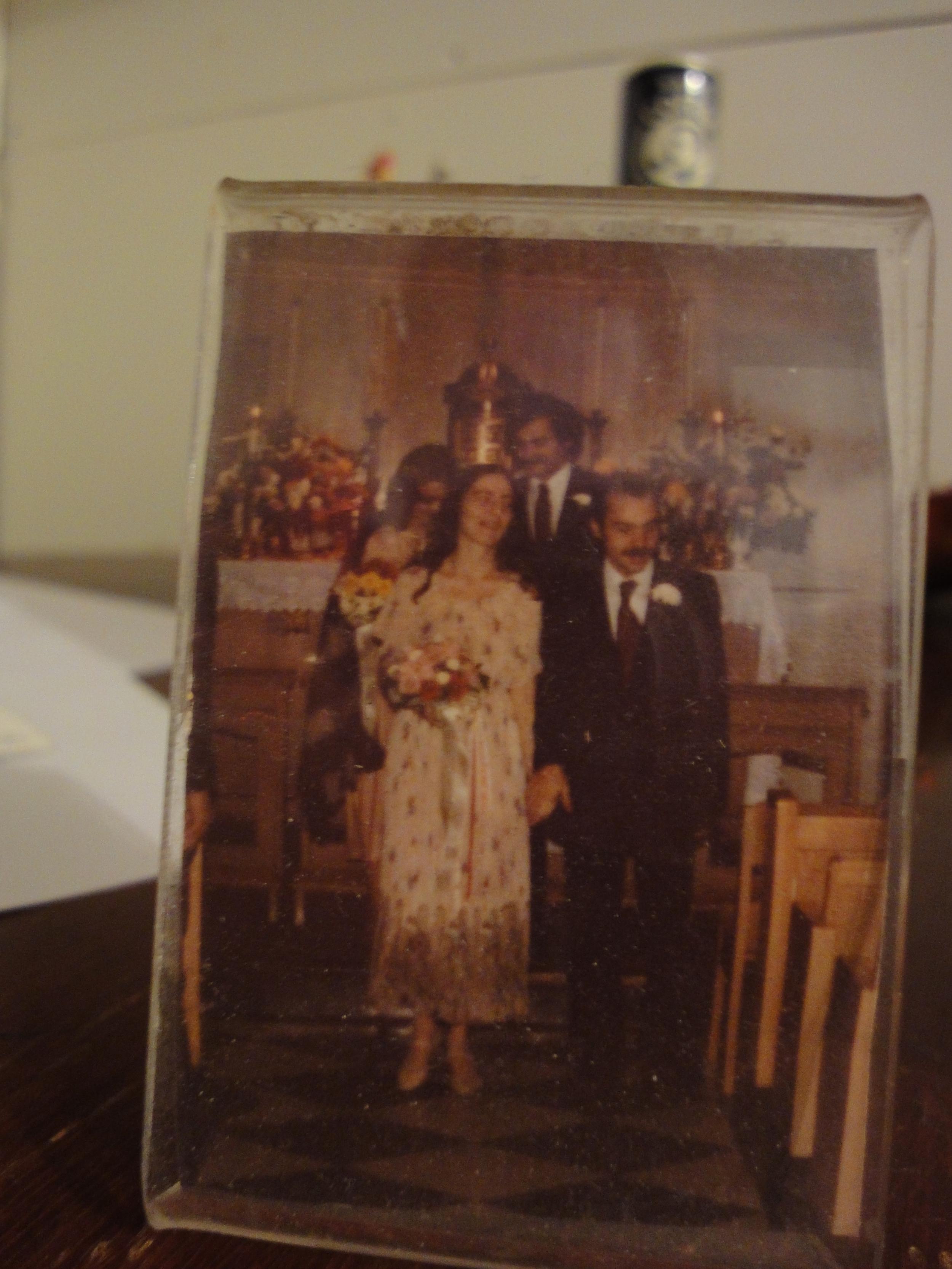 My parents'wedding day.